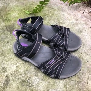 **Teva Tirra Sport Sandals  Size 7.5 - Black/Grey